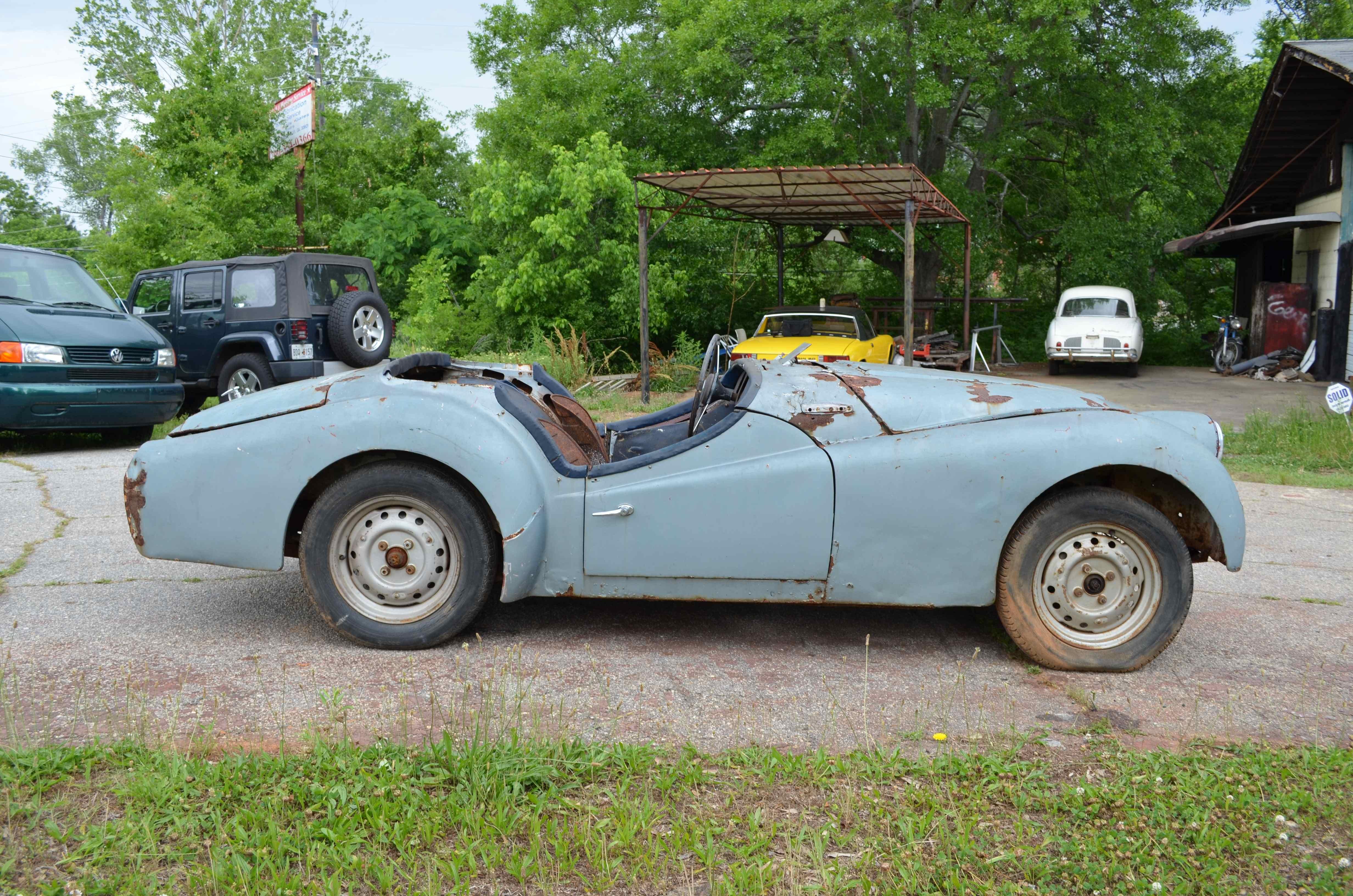 1958 Triumph Tr3a Project Car For Sale: Rolling Chassis For Resto: 1958 Triumph TR3A
